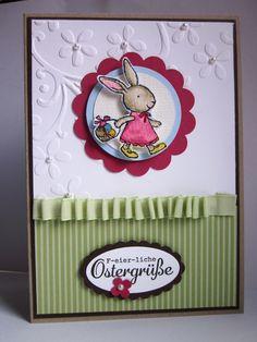#stampin up - everybunny - Hasenparade - Osterkarte - F-eier-liche Ostergrüße