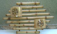 Floreira de bambu você encontra  no elo7