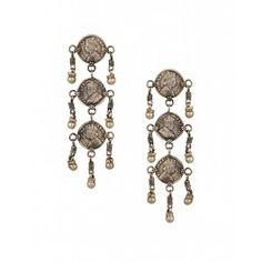Victoria Coin Dangling Earrings by Silvermerc - Silver Jewelry Latest Collection, Shop Now! Offer Valid only for Pinterest Followers! Enjoy exciting discount on these Indian designer jewellery. Use code PIN10 - #Silver #Earrings #Ethnic  #Pendant #Fashion #Jewelry #Jhumka - Indian Ethnic Fashion - Jewelry Designs of India - Festive Jewellery - Wedding Jewelry  – Boho Chic Fashion - #Style – Tribal Jewellery Designs. Shop Jewelry Online at #ExclusivelyIn