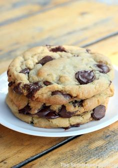The New York Times Best Chocolate Chip Cookie Recipe, made with bittersweet chocolate!