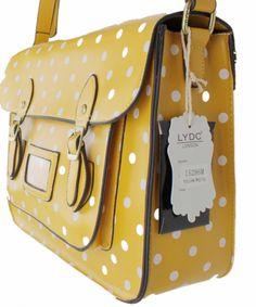 Bolsa amarela de poá ♥♥♥