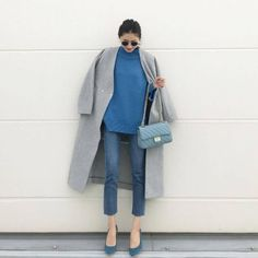 Denim Outfit, Fashion Outfits, Womens Fashion, Autumn Winter Fashion, Autumn Style, Mantel, Duster Coat, Normcore, Clothes For Women