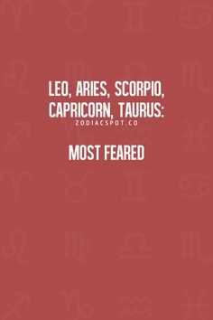 Leo + Taurus = a force to reckon with. More Zodiac Compatibility here! Capricorn Facts, Capricorn Quotes, Zodiac Signs Taurus, Zodiac Sign Facts, Leo Zodiac, Zodiac Horoscope, My Zodiac Sign, Astrology Signs, Zodiac Compatibility