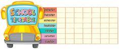 Bus escolar School Timetable, Software, Vector Photo, Vector Free, Classroom, Social Media, Projects, Digital Media, Authors