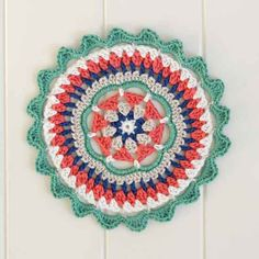 [Photo Tutorial] Love This Mandala! It's Gorgeous, Fast And Fun! - Knit And Crochet Daily