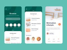 Podcast App Exploration by Ghani Pradita for Paperpillar on Dribbble Web And App Design, Minimal Web Design, Web Design Trends, Design Page, Layout Design, Flat Design, Design Design, Best App Design, Web Design Color