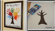 Cute #DIY Family Handprint Tree
