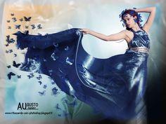 Farfalle - Questa creazione è il risultato della unione di due immagine elaborate in photoshop