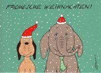 Wumm und Wendelin -Fröhliche Weihnachten- Postkarte zu Weihnachten