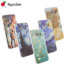 Vincent Van Gogh 3D Painting Mobile Phone Case For Samsung Case S6 S7 Edge Plus Phone Case Clear Soft TPU Case [NganSek The Art]