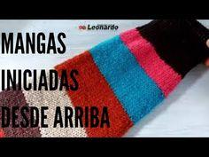 Cómo hacer mangas a dos Agujas para suéter o saco/ Rápido y Fácil! - YouTube Youtube, Stitches, Videos, Footprint, Knits, Circular Weaving, Tricot, Stitching, Dots