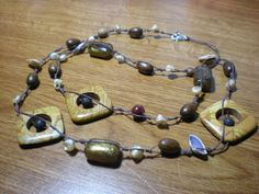 knotted bead necklace tutorial