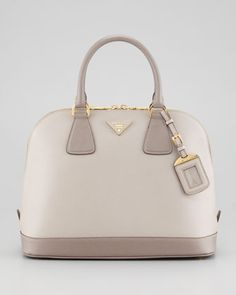 Prada Saffiano Bicolor Dome Bag - Neiman Marcus