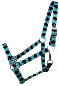 Saddles Tack Horse Supplies - ChickSaddlery.com Nylon Halter With Cross Pattern Design
