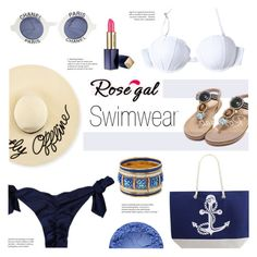 """Rosegal : Style Earth-Tone"" by viebunny ❤ liked on Polyvore featuring Eugenia Kim, Chanel, Estée Lauder, Summer, swimwear and rosegal"