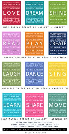 Typography art prints for kids playroom art. Kids Wall by Wallfry