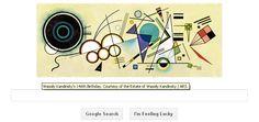 Wassily Kandinsky 146 birthday google doodle