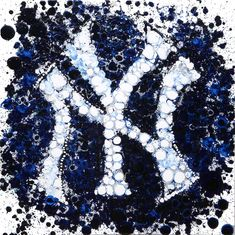 New York Yankees Abstract Painting