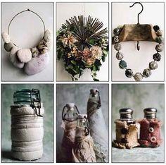Manon Gignoux.  Textile artist, stylist, photographer.  She creates worn, rustic textures.
