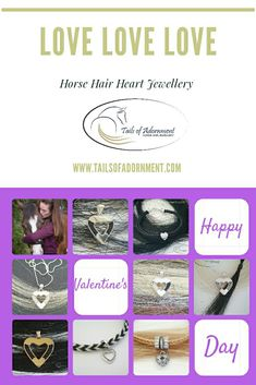 Tails of Adornment custom makes original horse hair jewellery using Sterling Sliver, gold or stainless steel. Have your unique keepsake made with your own horses hair. Horse Hair Jewelry, Hair Jewellery, Equestrian Jewelry, Sterling Sliver, Cross Pendant, Happy Valentines Day, First Love, Horses, Heart