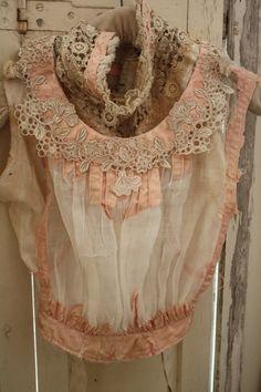 Vintage Style Lace & Ribbon Chiffon Blouse ....