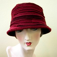 repurposed sweaters...gorgeous structured wool hat