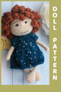 Owl Crochet Patterns, Crochet Doll Pattern, Amigurumi Patterns, Crochet Dolls, Doll Patterns, Crochet Ideas, Bobble Stitch, Sewing Basics, Crochet For Beginners