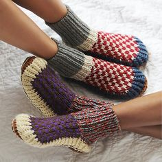 Some more sock/slippers. I like these because slippers don't necessarily keep my feet warm.