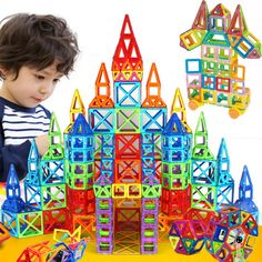 Magnetic Designer Construction  Building Set Plastic Educational Toy