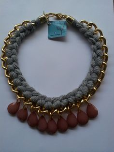 Statement Necklace Gold chunky chain by Nefelislittlestore on Etsy, €22.00