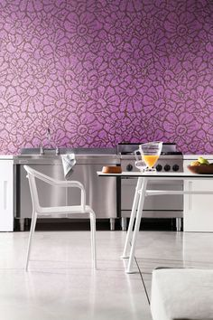 Bisazza Graphic-Flowers-purple