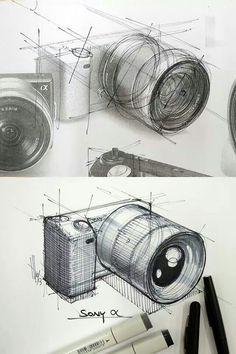 #camera #industrial #design #sketch