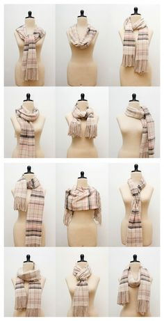 12 Trendy Ways to Tie A Scarf {how to wear} via Karen Barbe Blog