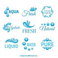 Natural nature logo Vectors, Photos and PSD files Water Drop Logo, Water Logo, Free Logos, Aqua Logo, Nautical Logo, English Alphabet Letters, Fish Logo, Abstract Logo, Logo Concept