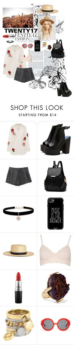 """Every Rose Has A Thorn"" by tophercouture ❤ liked on Polyvore featuring Ashish, Tinley Road, Betsey Johnson, Casetify, Janessa Leone, Ultimate, MAC Cosmetics, Christopher Kane, Henri Bendel and Preen"