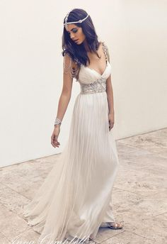 Boho Anna Campbell Vintage Beach Wedding Dresses Plunging V Neck A Line Beading Crystals Chiffon Beach Floor Long Bridal Gowns Best Price Wedding Dresses Bridal Gowns Wedding Dresses From Cinderelladress, $123.62| Dhgate.Com