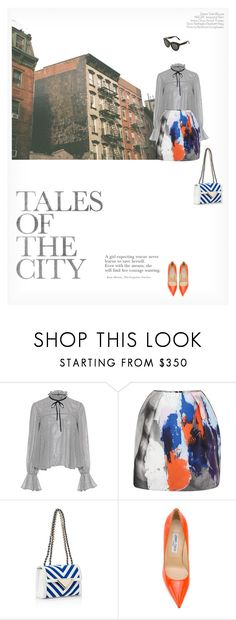 """""""TALES OF THE CITY"""" by paint-it-black ❤ liked on Polyvore featuring Saloni, MSGM, Sara Battaglia, Jimmy Choo and Victoria Beckham"""
