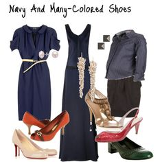 shoes that go with navy blue dress