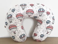 **SAME DAY SHIPPING**  Vintage style hot air balloon pattern. 100% cotton flannel making this Boppy extra soft! Perfect for your vintage inspired