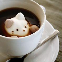 Cat-shaped marshmellows