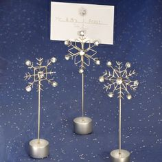 Sparkling Snowflake Placecard Holders