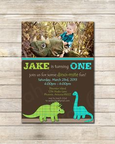 Printable Dinosaur Birthday Party Invitation  sarah by sarahOchic, $12.00