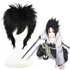 Naruto Uchiha Sasuke Black 35cm Cosplay Wig