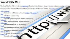 ¿Cómo fue la primera página de Internet hace 20 años?    Texto completo en: http://actualidad.rt.com/ciencias/view/93269-primera-pagina-web-aniversario-internet