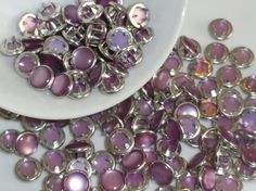 12 Lavender Pearl Snap Sets  4 Part Prong Size by hookedbykmorey