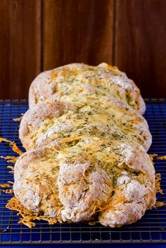 Garlicky, Cheese and Herb Soda Bread
