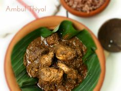 A traditional Ambul Thiyal recipe from scratch. http://www.mysrilankanrecipe.com/ambul-thiyal-tamarind-claypot-fish/