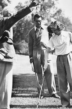 Howard Hawks with actors Cary Grant and Katharine Hepburn, on the set of 'Bringing Up Baby'