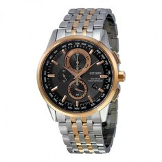 Citizen Perpetual Calender Black Dial Men's Watch AT8116-57E
