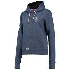 Team GB 1905 Logo Hoodie - Ladies - Denim Blue